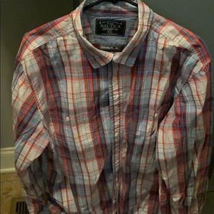 Men's Nautica Button Down, sz XL
